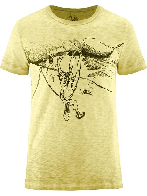 Red Chili Erbse Crack t-shirt Heren geel